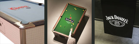 Hainsworth Printed Pool Table Cloth Examples